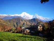Ghandruk Annapurna Basecamp strömkrets arkivbilder