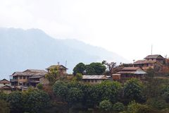 Ghandruk - biggest village of gurungs in Nepal Royalty Free Stock Photo