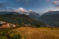 Ghandruk, distrito de Kaski, Nepal Imagens de Stock Royalty Free