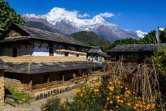 Ghandruk by i den Annapurna regionen Royaltyfria Bilder