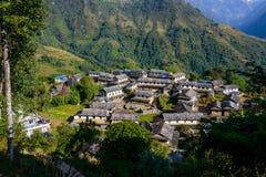 Ghandruk by i den Annapurna regionen Arkivfoto