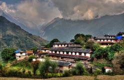 Ghandruk by i Nepal Fotografering för Bildbyråer