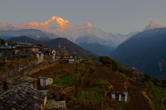 Ghandruk sunrise Stock Photo