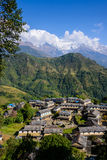 Ghandruk village in the Annapurna region Stock Image