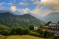 Ghandruk village in the Annapurna region Royalty Free Stock Photos