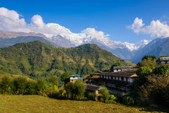 Ghandruk village in the Annapurna region Stock Photography