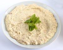Ghanouj del babza, alimento libanese/Mediterraneo tradizionale Fotografia Stock Libera da Diritti
