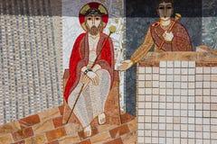 Religious christian mosaics in Ta Pinu, Malta Royalty Free Stock Photos