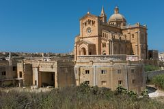 Neo romanesque catholic church. Ta Pinu, Malta Royalty Free Stock Photography