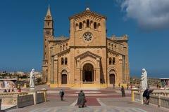 Neo romanesque catholic church. Ta Pinu, Malta Royalty Free Stock Photo