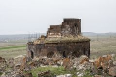 Gharghavank Εκκλησία Zoravor Στοκ Φωτογραφίες