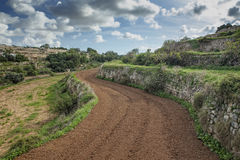 Gharghur Countryside. Beautiful landscape and countryside scenery at Gharghur valley in Malta Stock Photography