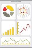 Ghart with diagrams Stock Photos