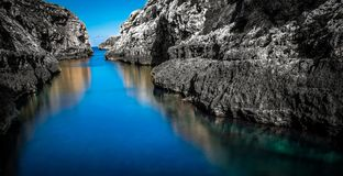 Ghasri Valley. Is an inlet that runs inland Royalty Free Stock Image