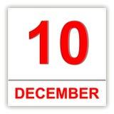Ghat de décembre 10 Jour sur le calendrier illustration stock