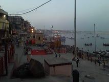 Ghat di harishchandra di Kashi fotografie stock