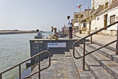 Ghat in Dwarka Stock Photography