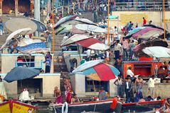 Ghat en Varanasi Imagen de archivo