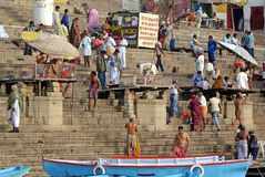 Ghat en Varanasi Foto de archivo libre de regalías