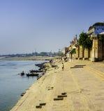 Ghat en Varanasi foto de archivo
