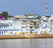 Ghat at the Holy Lake in Pushkar Stock Photos