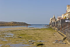 Ghat on low tide Stock Photo