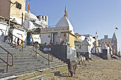 Ghat on low tide Stock Image