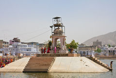 Ghat on the sacred for Hindus Lake Pushkar, India Stock Images