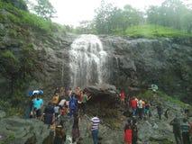 Naturel place at kasara. Ghat section waterfall Stock Photos