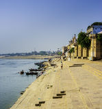 Ghat in Varanasi Stock Photo