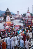 Ghata σε Haridwar Στοκ φωτογραφία με δικαίωμα ελεύθερης χρήσης