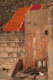 ghats瓦腊纳西 免版税库存图片