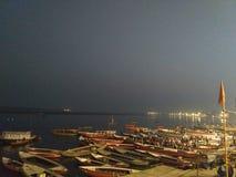 ghats瓦腊纳西 免版税图库摄影