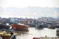 Ghats à Varanasi Photos stock