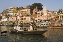 ghats ινδή Ινδία Varanasi Στοκ Φωτογραφίες