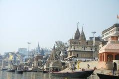 Ghats στο Varanasi Στοκ Φωτογραφίες