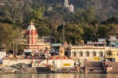 Ghats av Rishikesh Royaltyfri Foto