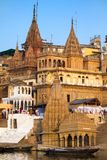 Ghats on the banks of Ganges river Stock Photography