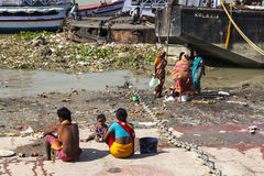 Ghats in Calcutta Royalty Free Stock Image