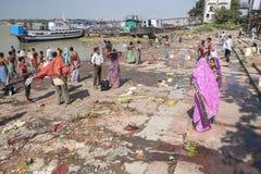 Ghats in Calcutta Stock Photo