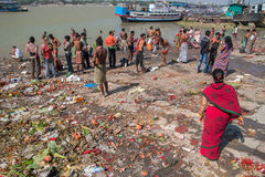 Ghats in Calcutta Stock Image