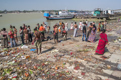 Ghats in Calcutta Royalty Free Stock Images