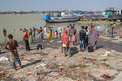 Ghats in Calcutta Stock Photo