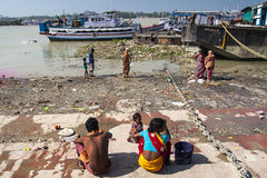 Ghats in Calcutta Stock Photography