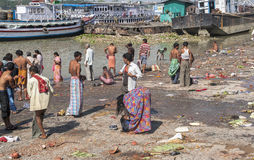 Ghats in Calcutta Royalty Free Stock Photo