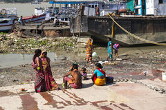 Ghats in Calcutta Royalty Free Stock Photos