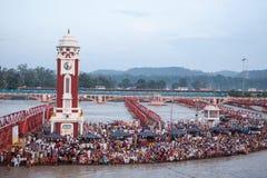 Ghats chez Haridwar Photos stock