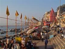 Ghats en Varanasi Imagenes de archivo
