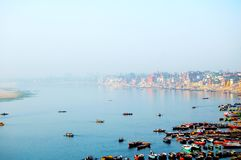 Ghats of the Ganges River. Earlier morning-Ghats of the Ganges River stock image