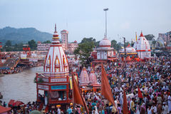 The ghats of Haridwar Stock Photo